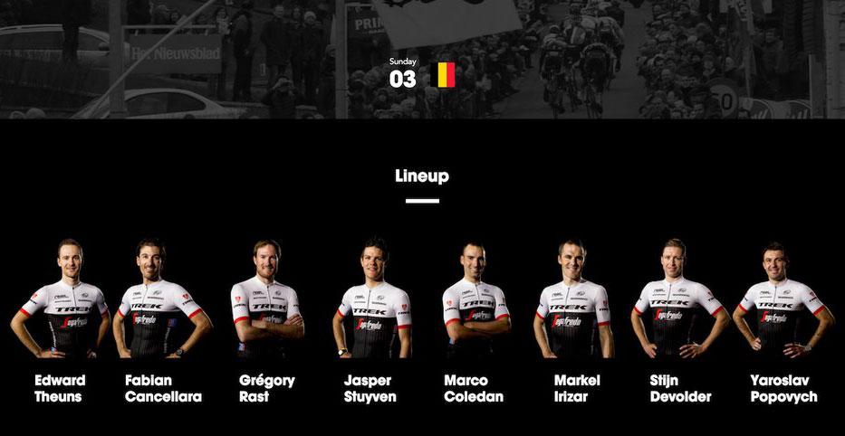 Trek-Segafredo - Tour de Flandes 2016
