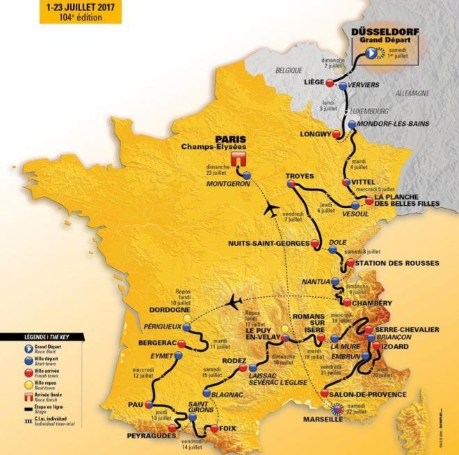 Tour de Francia - Recorrido 2017