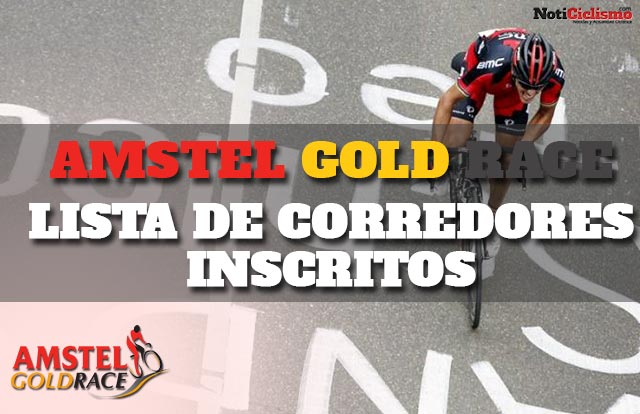 Amstel Gold Race 2017: Lista de corredores inscritos
