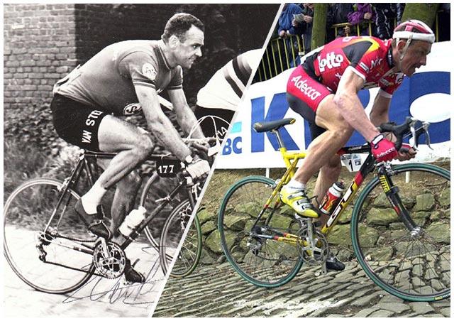 Van Steenbergen y Tchmil en el Tour de Flandes