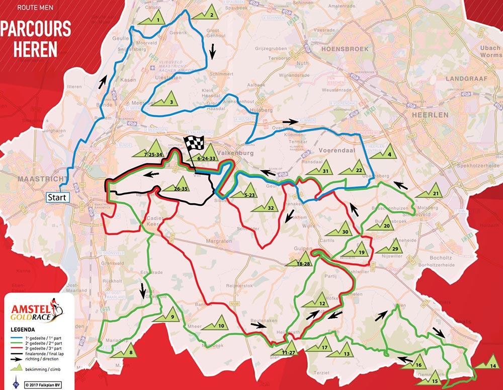 Amstel Gold Race 2017 - Recorrido