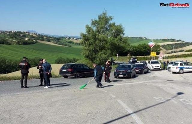 furgoneta que arrollo a Michele Scarponi
