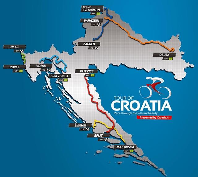 Tour de Croacia 2017 - Recorrido