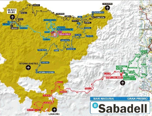 Vuelta al País Vasco 2017: Recorrido