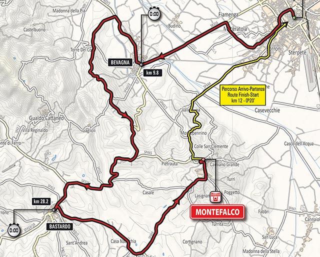 Giro de Italia 2017 (Etapa 10) Recorrido