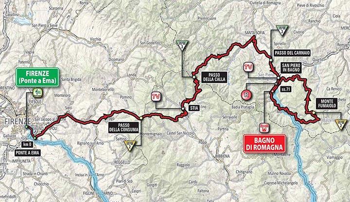 Giro de Italia 2017 (Etapa 11) Firenze - Recorrido