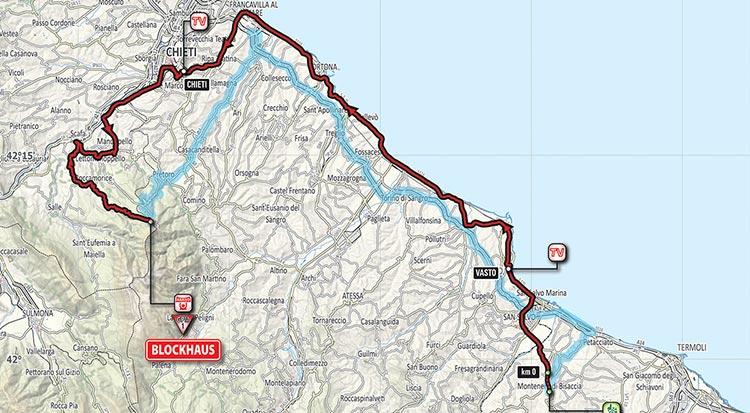 Giro de Italia 2017 (Etapa 9) Recorrido