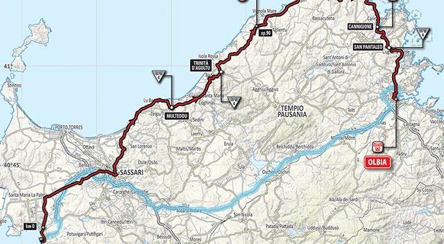 Giro de Italia 2017 (Etapa 1) Recorrido