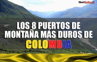 Los 8 puertos de montaña más duros de Colombia