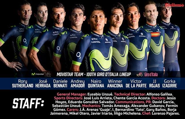 Movistar Team - Giro de Italia 2017