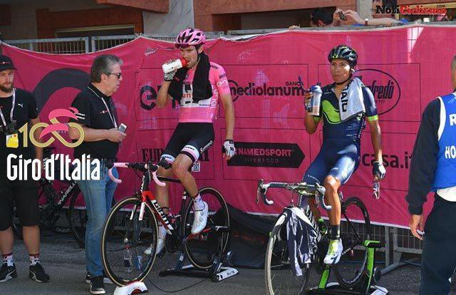 Nairo Quintana y Tom Dumoulin