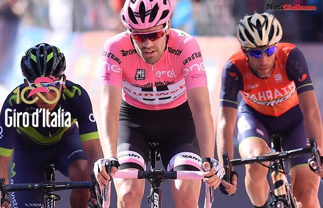 Tom Dumoulin - Nairo Quintana - Vincenzo Nibali