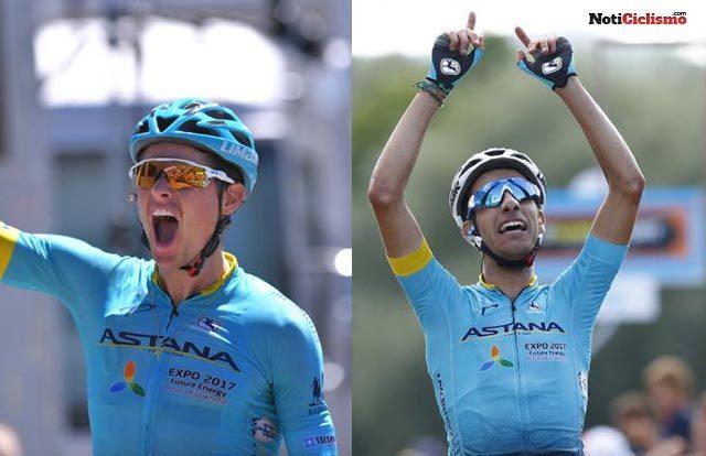 Aru y Fuglsang comparten el liderazgo del Astana en el Tour de Francia