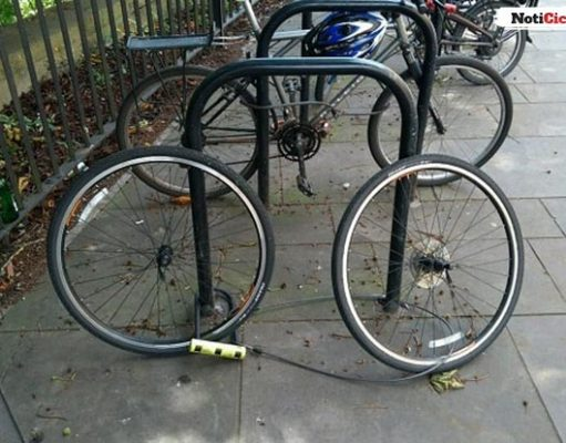 ¿Cómo no asegurar una bicicleta?