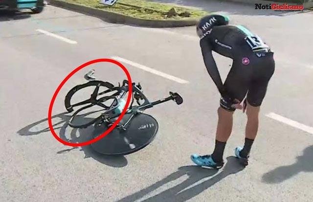 PRO, patrocinador de Team Sky explica por qué la rueda de Gianni Moscon se desfragmento en una prueba contrarreloj
