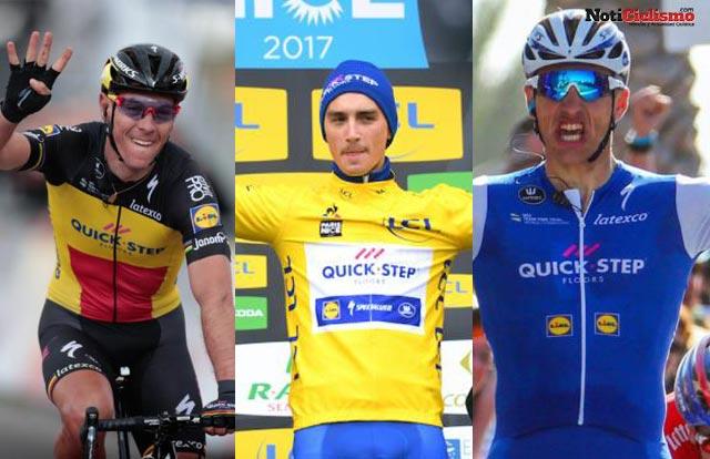 Gilbert, Kittel, Alaphilippe y Martin podrían abandonar el Quick-Step en 2018