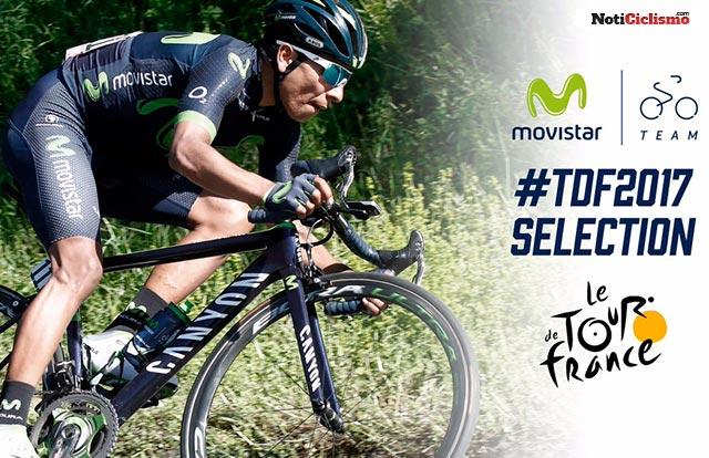 Movistar Team Revela su alineación para el Tour de Francia