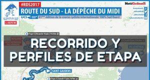 Route du Sud 2017: Recorrido y perfiles de etapa