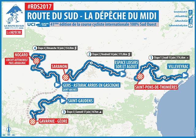 Route du Sud 2017: Recorrido