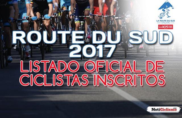 Route du Sud 2017: Listado oficial de ciclistas inscritos