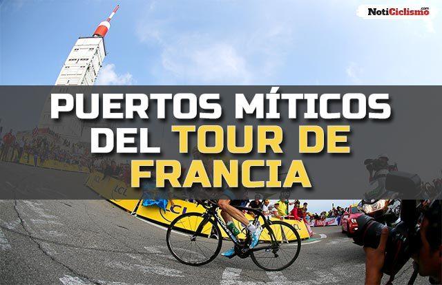 puertos míticos del Tour de Francia