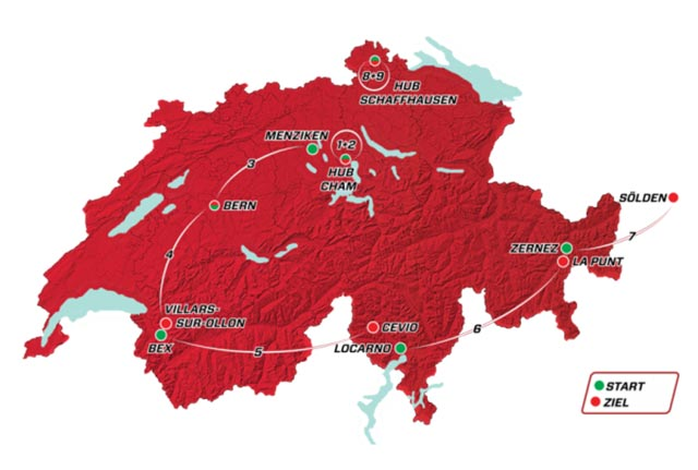 Tour de Suiza 2017: Recorrido