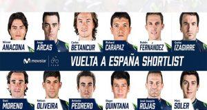 Movistar Team revela una preselección de 12 corredores para la Vuelta España