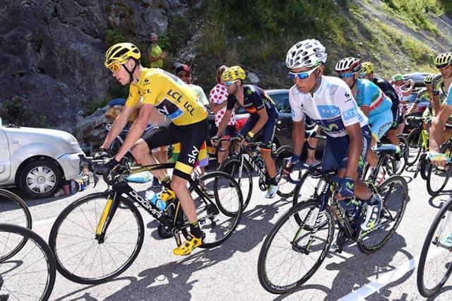 Nairo Quintana y Chris Froome n el Tour de Francia