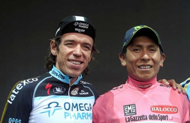 Rigoberto Urán y Nairo Quintana