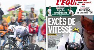 L'Équipe aviva el lío de la trampa en el maillot del Sky