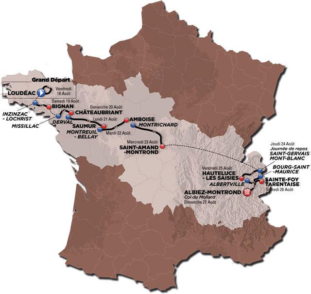Tour de l'Avenir 2017: Recorrido