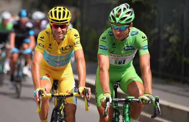 Vincenzo Nibali y Peter Sagan