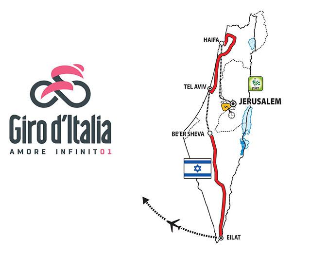 Presentación de las primeras etapas del Giro de Italia 2018 en Israel