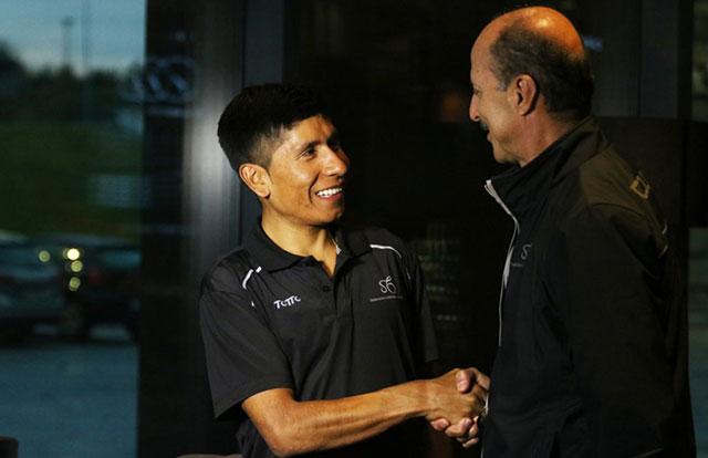 Nairo Quintana y Jorge Ovidio