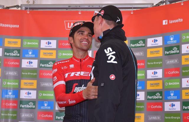 Chris Froome y Alberto Contador