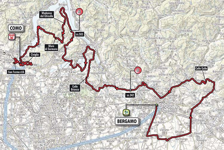 Giro de Lombardía 2017 - Recorrido