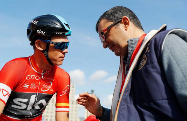 Javier Guillén y Chris froome