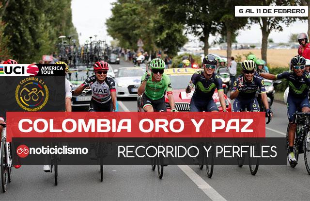 Colombia Oro y Paz 2018: Recorrido y Perfiles de etapa