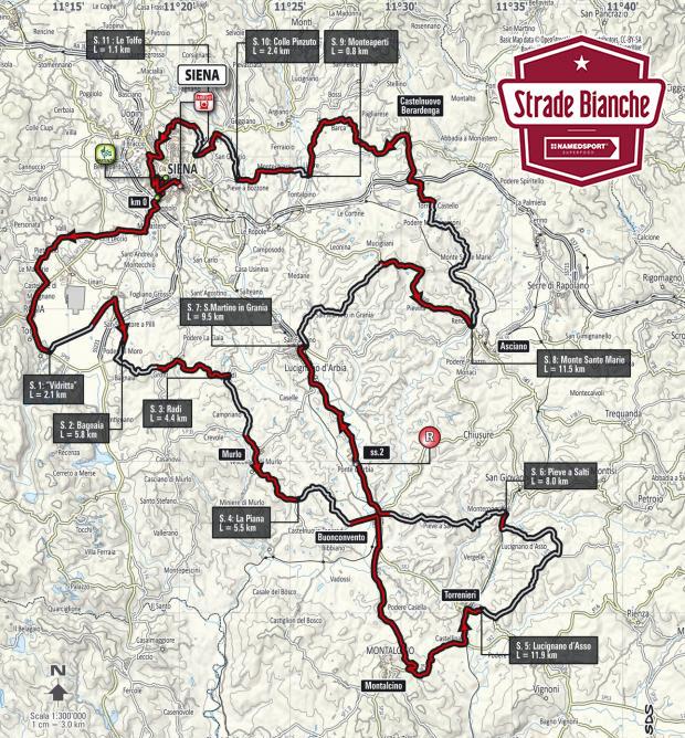 Strade Bianche 2018 - Recorrido