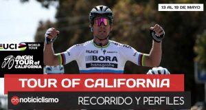 Amgen Tour of California 2018 - Recorrido y Perfiles de Etapas