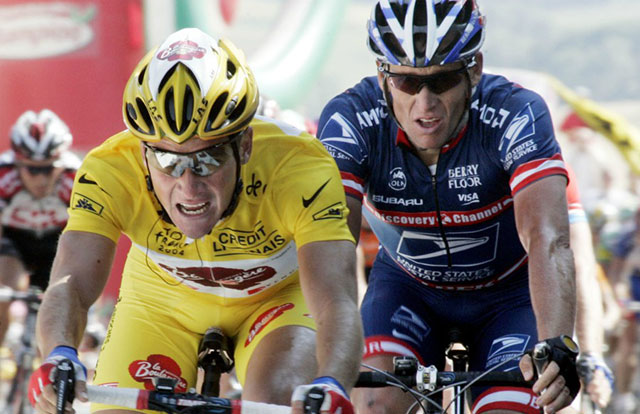 Thomas Voeckler - Lance Armstrong