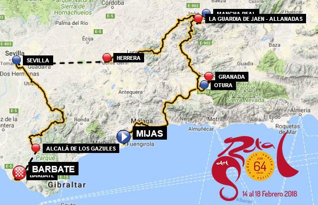 Vuelta Andalucía 2018 - Recorrido