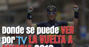 Donde se puede ver por TV la Vuelta a Murcia 2018