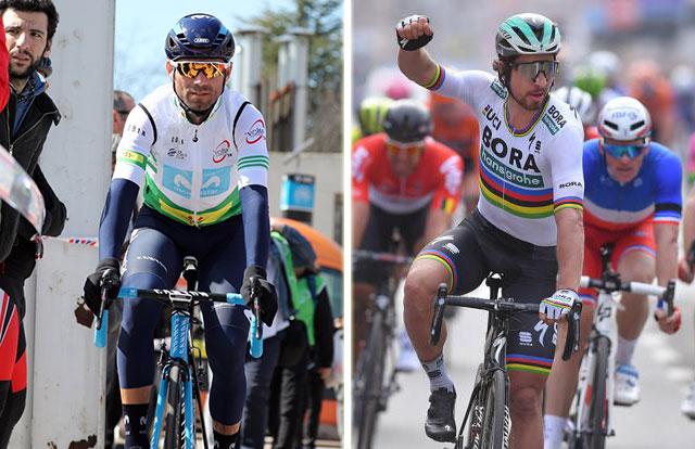 Alejandro Valverde y Peter Sagan
