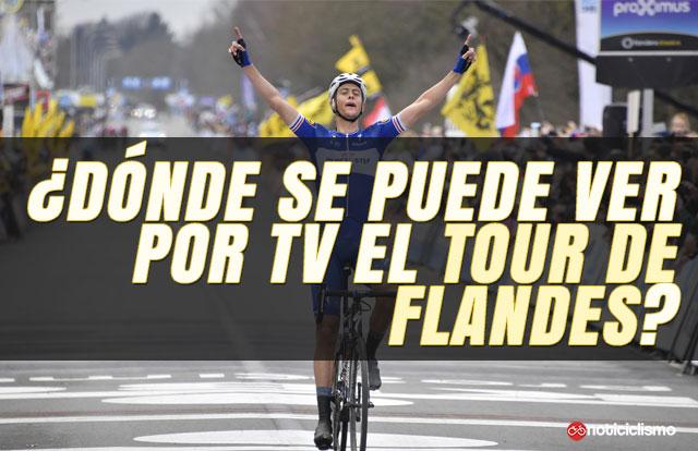 ¿Dónde se puede ver por TV el Tour de Flandes 2019?