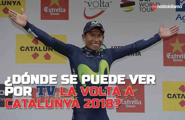 ¿Dónde se puede ver por TV la Volta a Catalunya 2018?