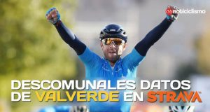 Alejandro Valverde en STRAVA