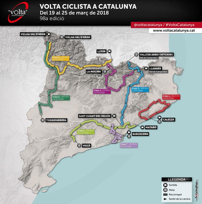 Volta a Catalunya 2018 - Recorrido