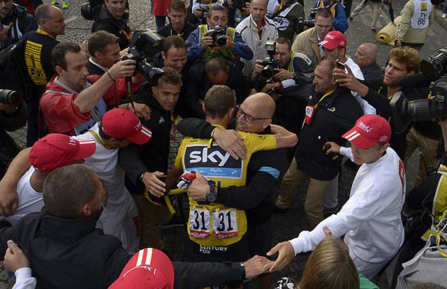 Chris Froome y David Brailsford