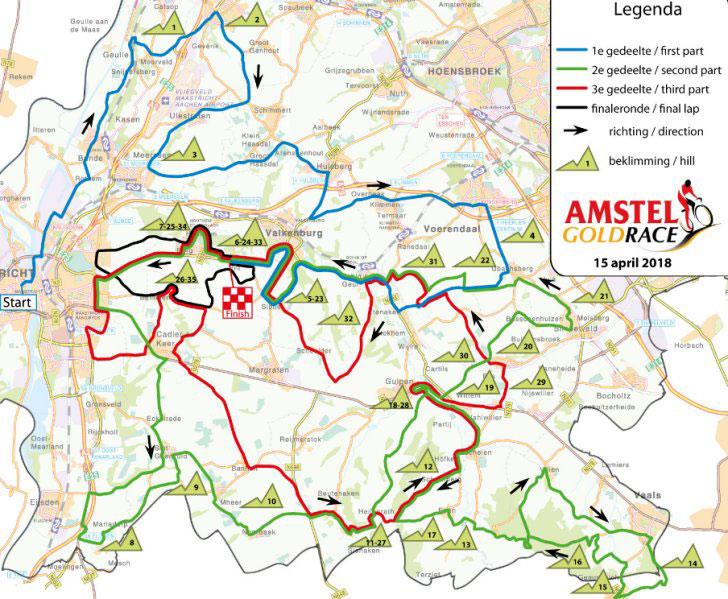 Amstel Gold Race 2018 - Recorrido